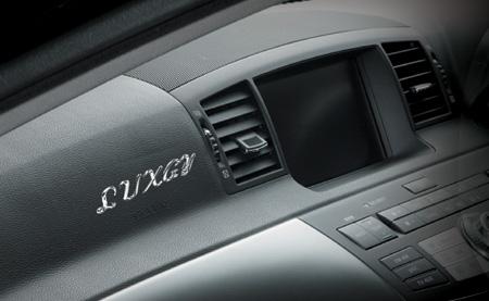 スクリプトラグジーエンブレム装着例:車 内装エンブレム