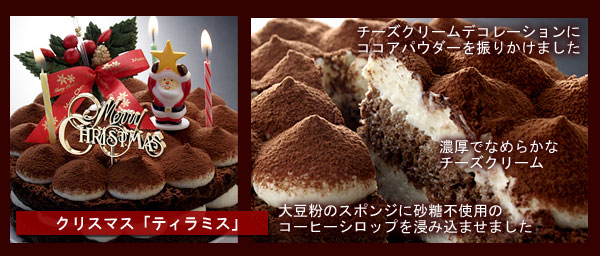 大豆粉のクリスマスケーキ ティラミス