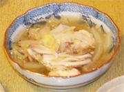 鳥団子のスープ