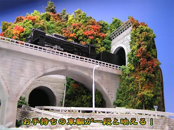 アーチ橋を見上げる