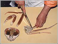 (6)指とかぶを切り離す。
