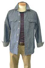 30代男性スタイル ダンガリーシャツ