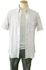 30代メンズファッションコーディネート 半袖シャツスタイル