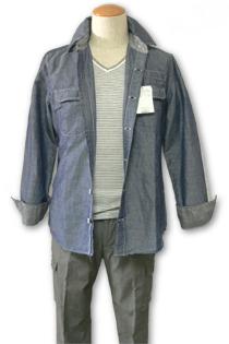30代 メンズ コーディネート ダンガリーシャツスタイル
