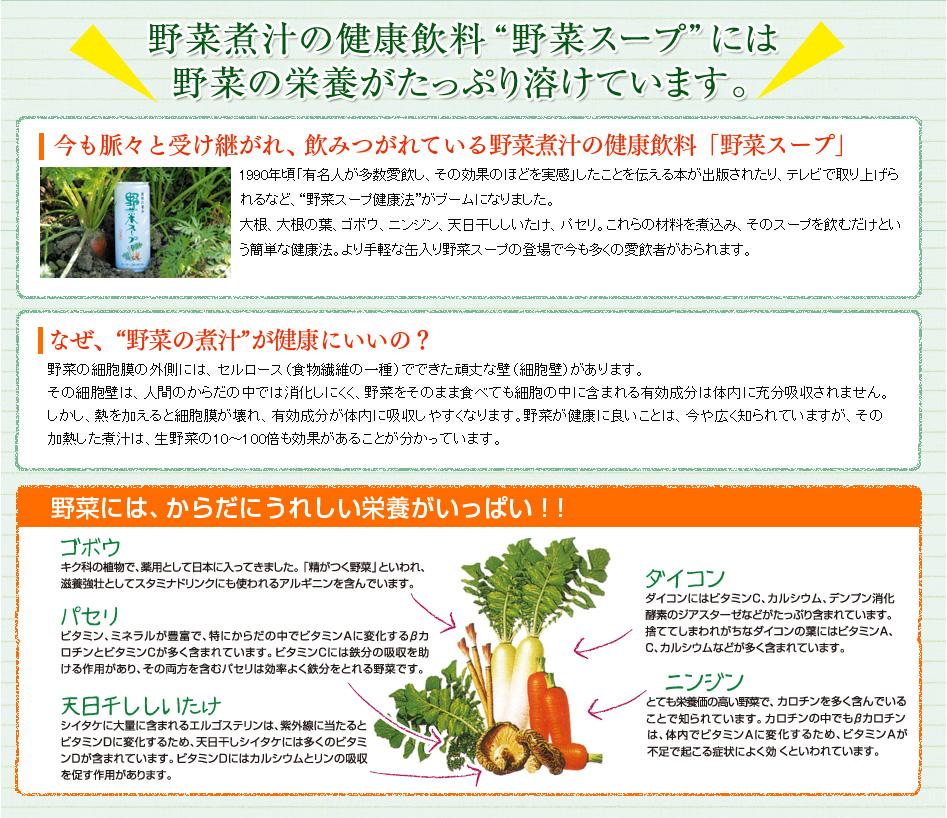 野菜煮汁の健康飲料