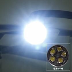 高輝度白色LED5灯搭載!!ケーブル長2m防水仕様白色LEDライト,LED-Light-W2000