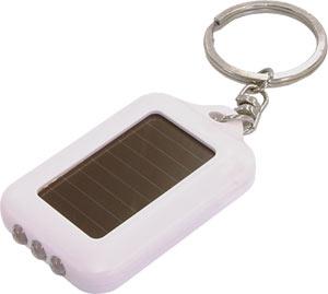 太陽光で充電できるLEDキーホルダーソーラー充電タイプ1