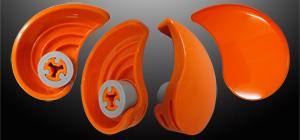 キャップオープナー:開かないふたを開けましょう!キャップ&プルトップオープナー「eg」。シャイン・オレンジ画像。