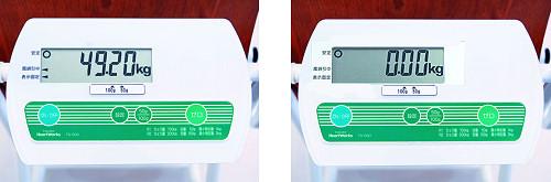 椅子型体重計 チェアスケール 大型測定表示部について