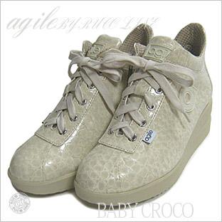 ルコライン靴(アージレ) ウォーキングシューズRUCO LINE靴ベビークロコ NO.112iv(アイボリー)