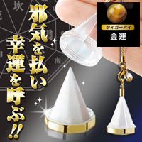 【金運を上げる虎目石(タイガーアイ)】 八角盛塩ストラップ
