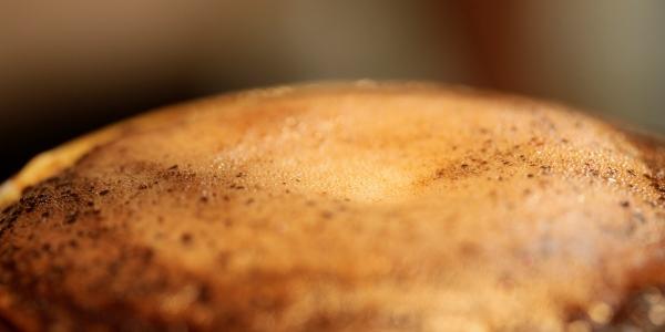 膨らむ珈琲の粉