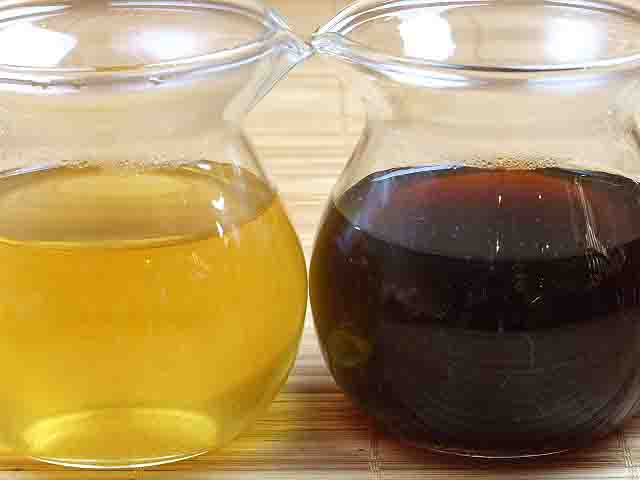 プーアール茶(生茶と熟茶)