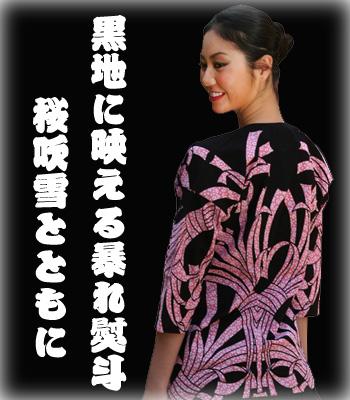 熨斗に桜:ピンク/前面
