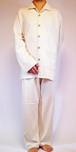 オーガニックドット柄パジャマの正面写真