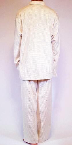 オーガニックドット柄パジャマの背面写真